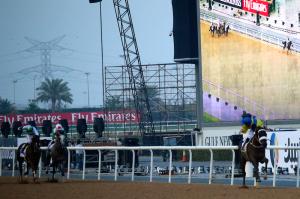 Mubtaahij (IRE) ganó cómodamente el UAE Derby. Foto Cortesía: Americas Best Racing