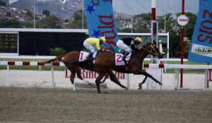 Nabori (VEN) ganando el Cruz del Avila. Foto Cortesía de Winston Hernandez (@en_la_pomada)