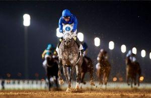 Frosted (USA) ganando el Al Maktoum Challenge Round 2. Foto Cortesia de HorseRacingNation