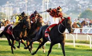 Rio Allipen (CHI) ganando el Derby de Viña. Foto Cortesía de Hipódromo de Chile