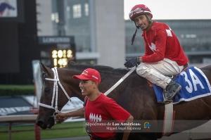 Huitlacoche (MEX) con Jose Angel Ortega luego de ganar el Copa de Oro Foto Cortesía de Miguel Angel Espinoza